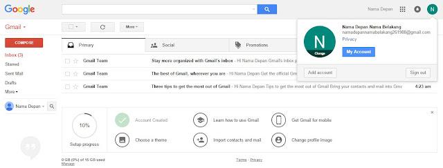 Langkah Membuat Email | Cara Buat Akun Gmail Lengkap Gambarnya