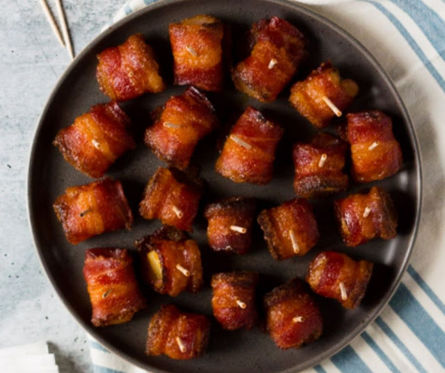 Brown Sugar Bacon Wrapped Pineapple Bites