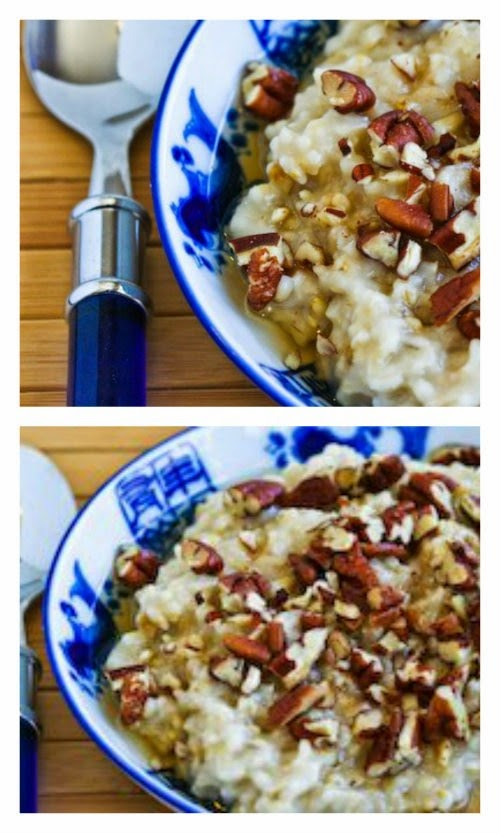 Slow Cooker Steel-Cut Oats Recipe with Agave and Pecans