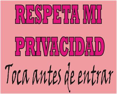 Respeta mi privacidad toca antes de entrar carteles para el dormitorio