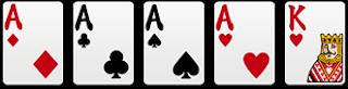 四條(金剛):4張相同+1單張