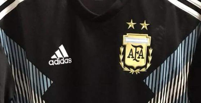 cd36e30ac2e Confirming our previous info, the first pictures of the Argentina 2018  World Cup away kit has leaked. Made by long-term shirt supplier Adidas, ...