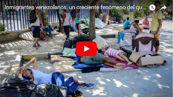 Entrevistan a inmigrantes venezolanos que duermen en las calles de Barranquilla