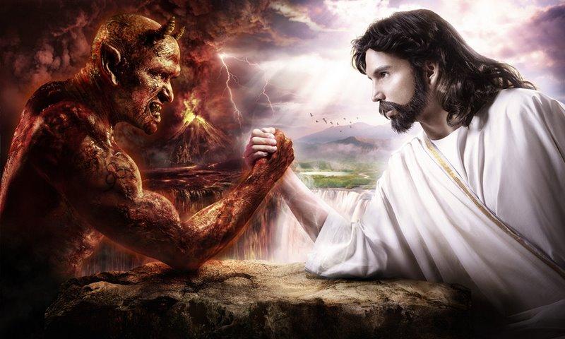 Armwrestling Jesus