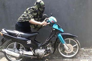 Pencuri Motor Beraksi Di Cipanas, Honda Beat Milik Kades Sindanglaya Raib