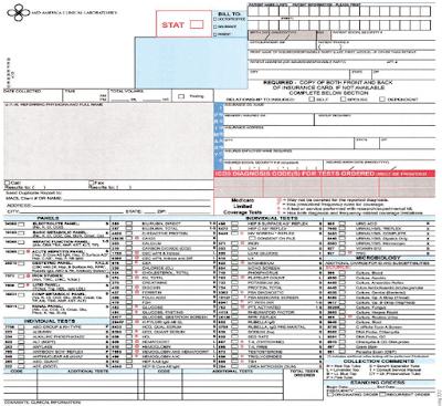 GAMBAR 1-6 Contoh formulir permintaan laboratorium