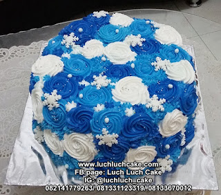 Kue Tart Ulang Tahun Buttercream Ombre