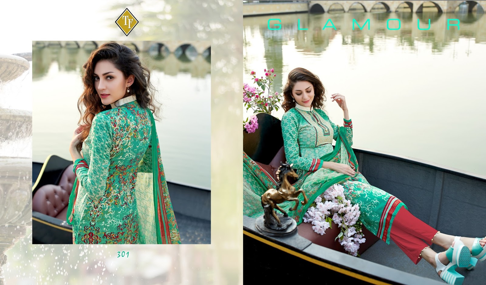 Sanah Vol 4 – Lawn Cambric Salwar Suit With Chiffon Dupatta