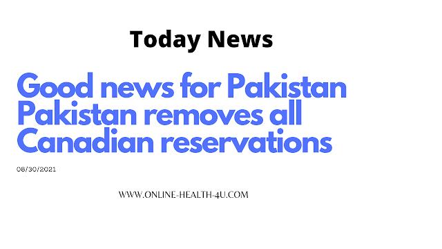 Good news for Pakistan-9/16/2021