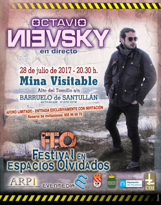 Cartel del concierto de Octavio Nievski en el Festival de Espacios Olvidados