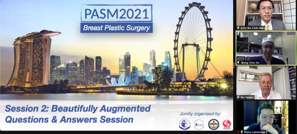 吳至偉醫師受邀於新加坡整形外科醫學會發表線上演講,為此會議的Keynote Speaker