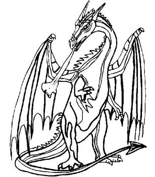 Coloriage De Dragon A Imprimer | Liberate