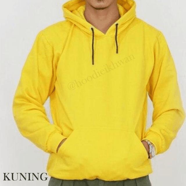 Hoodie Polos Kuning