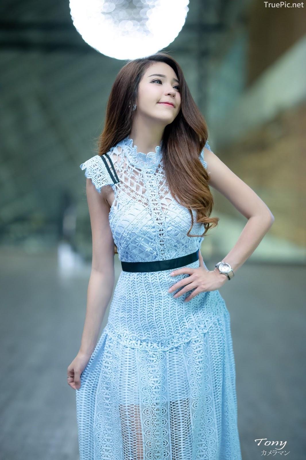 Thailand hot model – Janet Kanokwan Saesim – Sexy vs Cute and Bra vs Long Dress - Picture 3