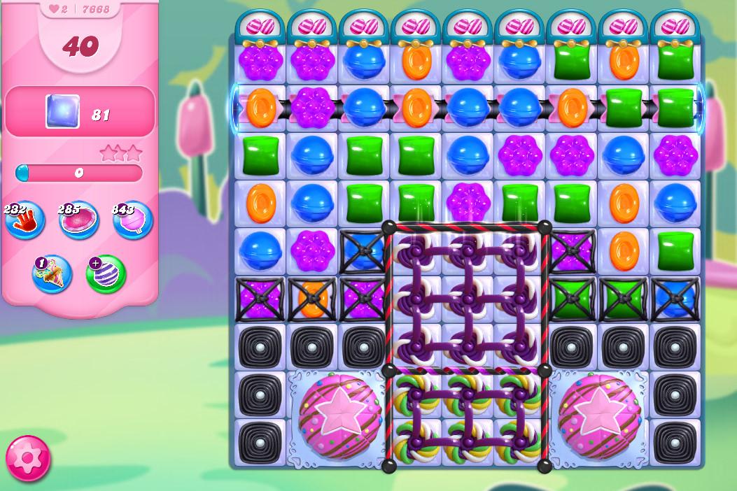 Candy Crush Saga level 7668