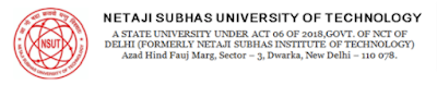 Free Job Alert: Neta Ji Subhash University NSUT Various Post Recruitment 2021- Online Form For Total 126 Vacancy