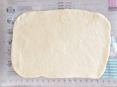 rolled cinnamon roll dough