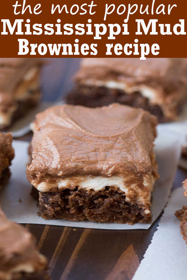 Mississippi Mud Brownies #Mississippi #Mud #Brownies #MississippiMudBrownies
