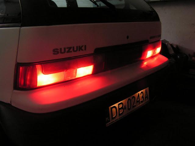 Suzuki Swift MK3, 1.3 GS, staryjaponiec, tylne lampy