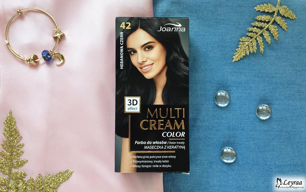 Joanna Multi Cream Color 42 hebanowa czerń