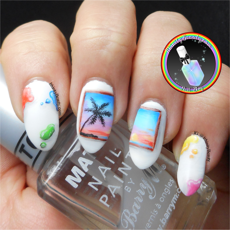 Freehand Art Inspired Nails - Painting Of A Painting ...