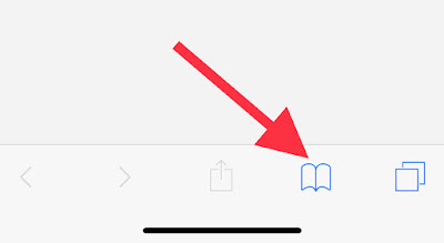 How to access bookmarks in iPhone safari