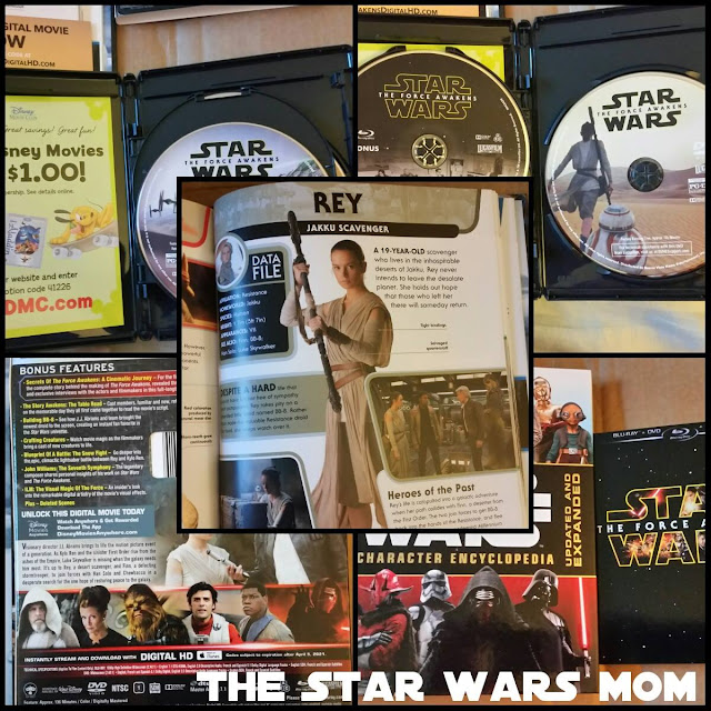 Star Wars The Force Awakens Blu-Ray/DVD and the Updated and Expanded Character Encyclopedia by DK