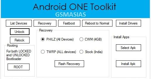 GSMASIAS: Donwload Android ONE Toolkit v1 2 1 Free Unlock