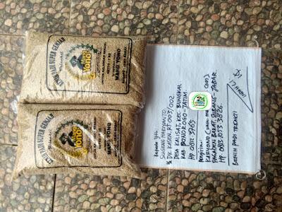 Benih padi yang dibeli SUGENG HARIYANTO Ponorogo, Jatim. (Sebelum packing karung ).