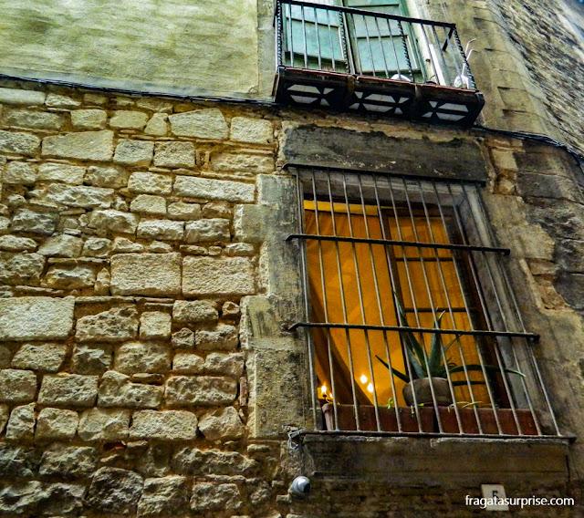 Antiga sinagoga em El Call, bairro judeu medieval de Barcelona