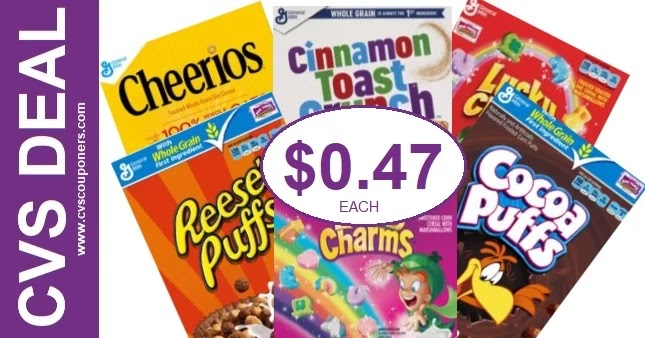 Never Pay Full Price for Cereal at CVS 6-20-6-26