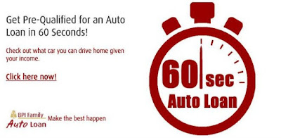 Car In 60 Seconds? Go Online With BPI Auto Loan