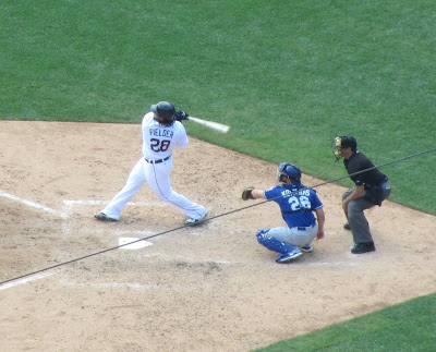 Prince Fielder with a big swing Detroit Tigers