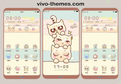Cute Kittens and Puppies Theme For Vivo Android