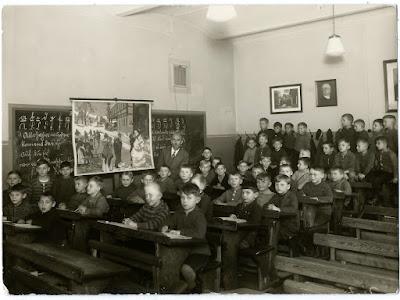 Schulklasse unter Bismarck