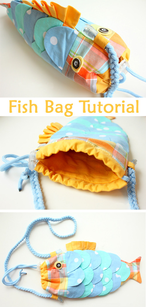 Fish Bag Purse – Free Sewing Tutorial