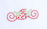 Strawberries from Cake embroidery pattern packet