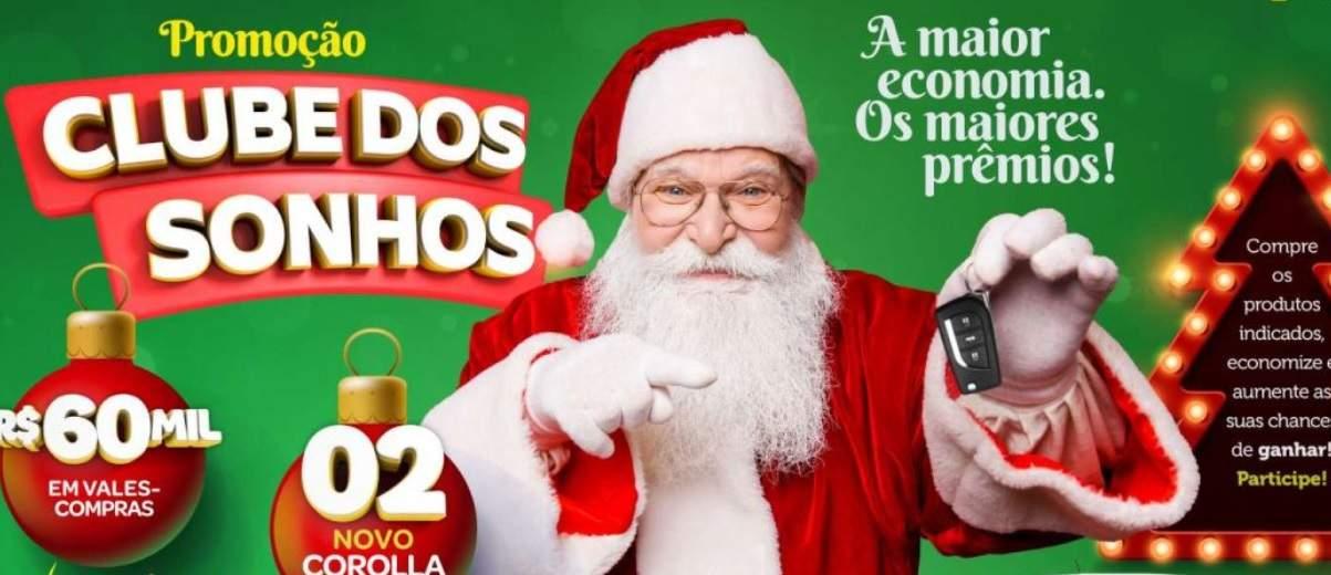 Promoção Rede Confiança Supermercados Natal 2019 Clube dos Sonhos Carros e Vales-Compras