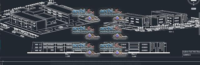 Télécharger le fichier Autocad Architecture Cad Dwg école directe projet
