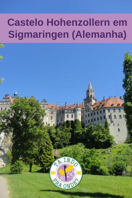 Castelo Hohenzollern em Sigmaringen, no sul da Alemanha
