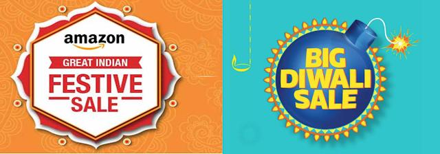 Amazon vs Flipkart ; Amazon Great Indian Festive Season Sale; Flipkart Big Diwali Sale