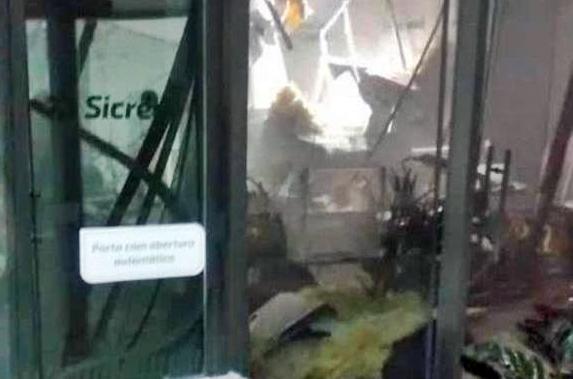 Assaltantes explodem agência bancária em Nova Cantu