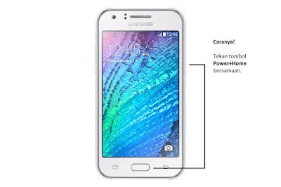 Cara Screenshot Samsung Galaxy J1