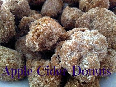 Plate full of apple cider donut holes