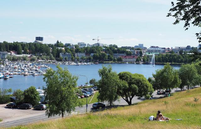 Kaupunginlahti lappeenranta, linnoitus, halkosaari, Lappeenranta, postikortti, visiitti, saimaa, satama, kotimaanmatkailu, kesaloma lappeenrannassa