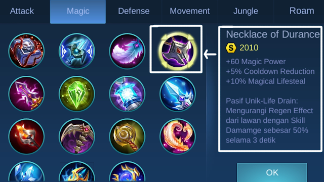 Tips Pemula Mobile Legends Item Counter Lifesteal dan Regen HP Auto Rontok!