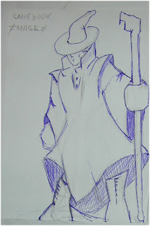 Mage with Staff drawing