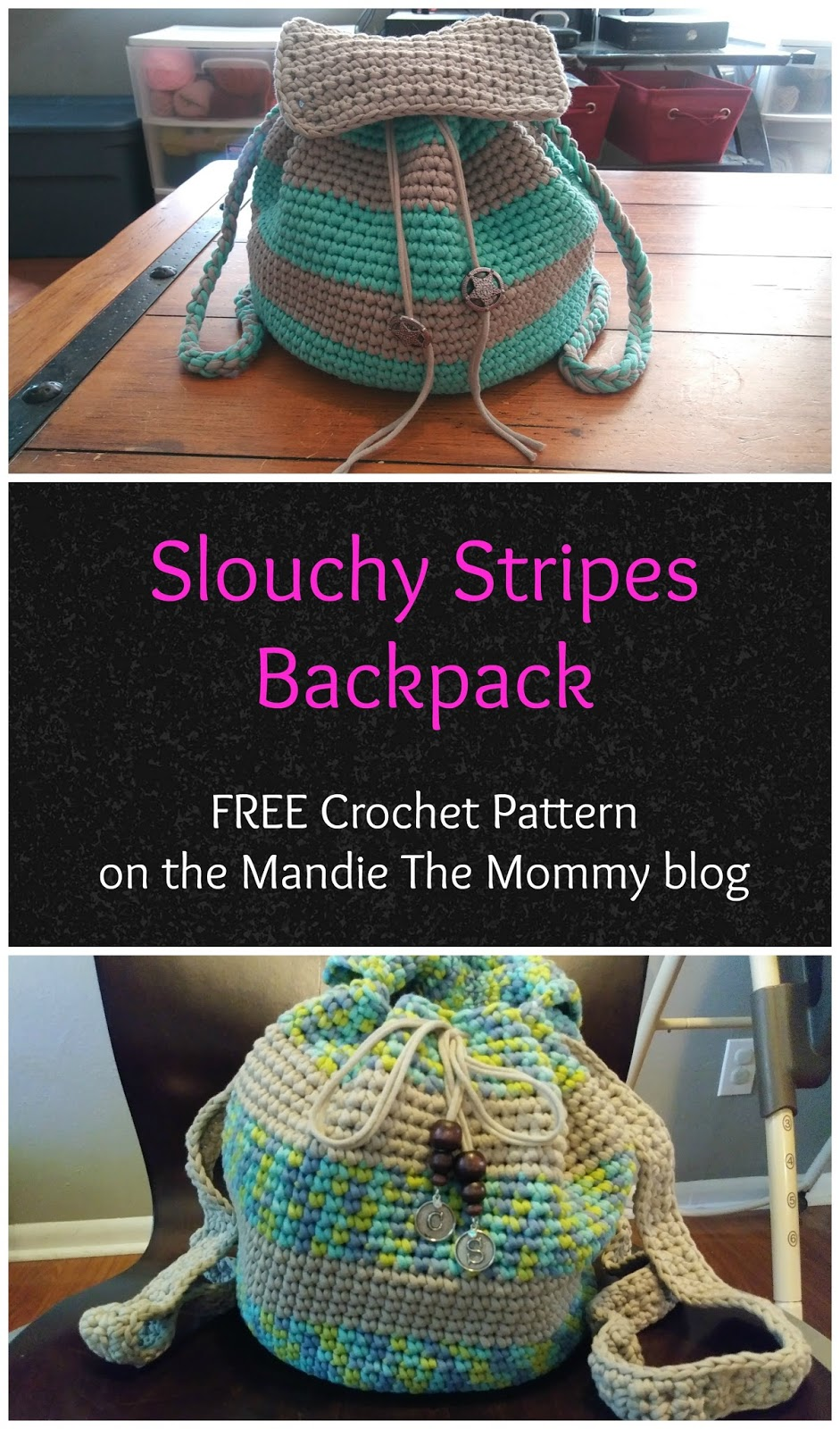Slouchy stripes backpack free pattern bankloansurffo Choice Image