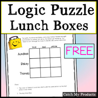 Teach logic puzzle to gifted and talented primary students or for kids on Teacher Pay Teachers. #freelessons #free #teachers