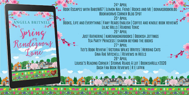 Spring on Rendezvous Lane by Angela Britnell blog tour banner